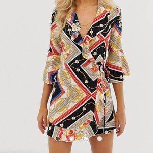 Outrageous Fortune ruffle wrap dress sleeve